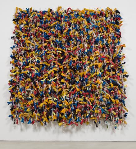 Gloves (2015) Mixed media  104.33h x 96.46w x 14.96d in (265h x 245w x 38d cm)