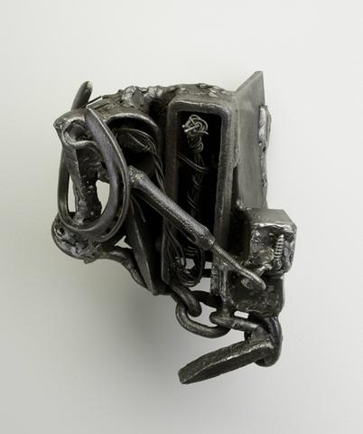 Soba (2002) Welded steel 10h x 8.3w x 8.3d in (25.4h x 21.1w x 21.1d cm)