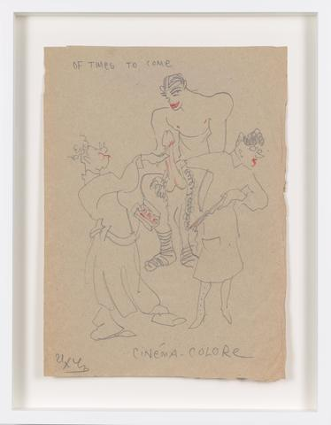 Untitled (1943) Colored pencil on paper 11.61h x 8.43w in (29.5h x 21.4w cm)