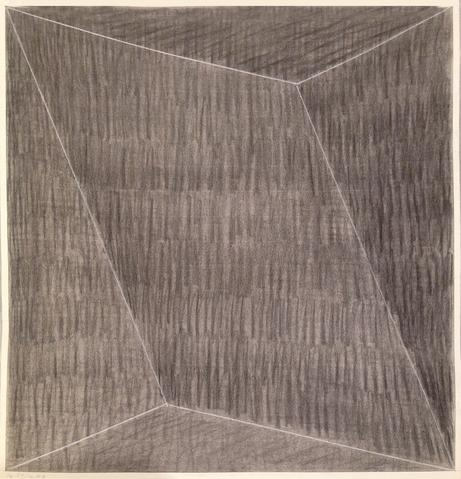 SR-PT-70 #3  (1970) Charcoal on paper 20.75h x 19.75w in (52.7h x 50.2w cm)