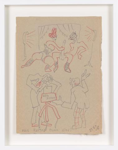 Untitled (1943) Colored pencil on paper 11.57h x 8.46w in (29.4h x 21.5w cm)