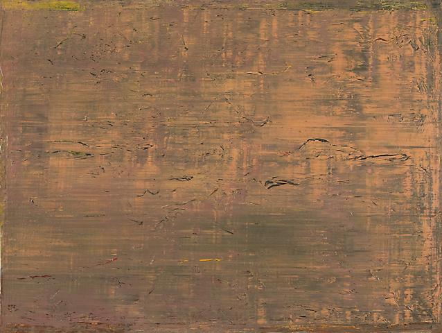 The Eighth Furrow (1973) Acrylic on canvas 87.5h x 117w in (222.25h x 297.18w cm)