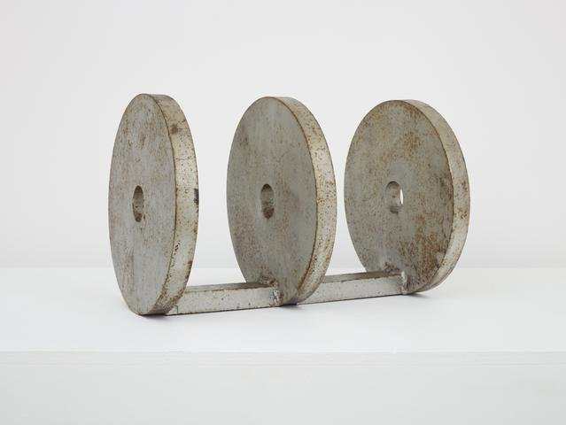 Untitled (Prototype Triple Circle) (c. 1968-69) Painted welded steel 10h x 14.5w x 10d in (25.4h x 36.8w x 25.4d cm)