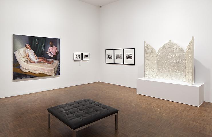 Left: Hugh Steers, Bed Pan (1994) Installation view Whitney Museum of American Art (2013)