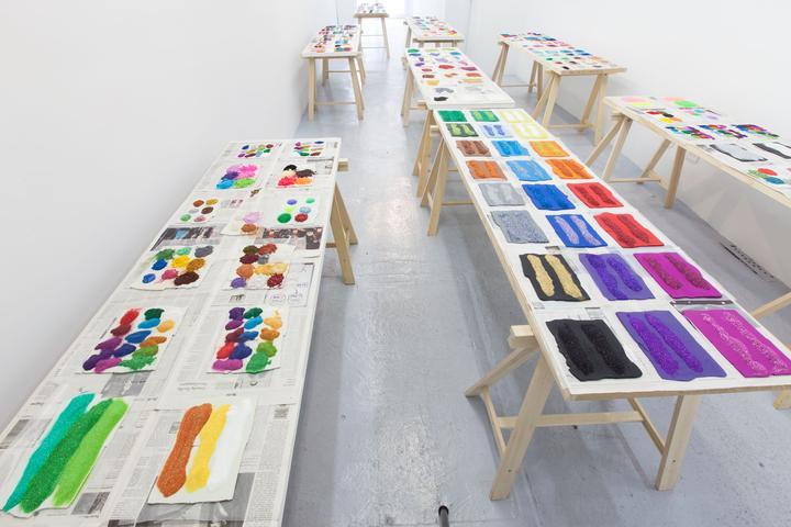 Color Revolts (2012) Mixed media Dimensions variable