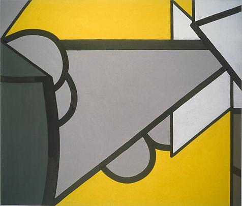 Dead, Yellow (Three) 2007 60 x 70 inches Mixed media on canvas