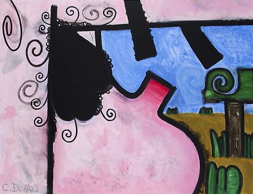 (Hers) Night and Day #4 2009 51 x 66 inches Acrylic on canvas