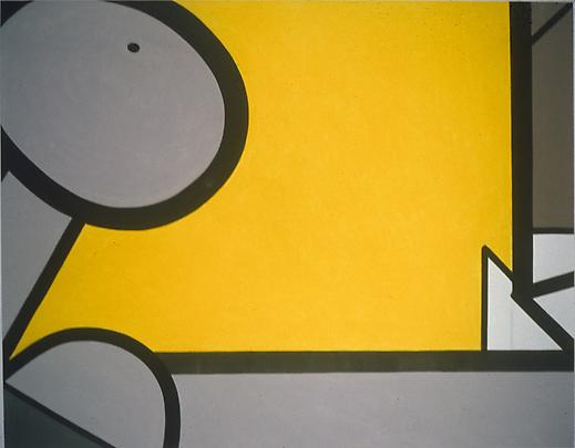 Dead, Yellow (Two) 2007 55 x 70 inches Mixed media on canvas