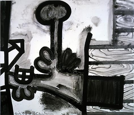Meso-Kingdom Fourteen (Dark Corner) 2003 63 1/4 x 73 1/4  Acrylic on canvas
