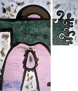 Garbage, Ratio (Shoulder) 2006 72 x 40 inches and 36 x 20 inches Mixed media on canvas, diptych