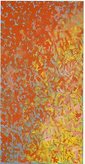 Alma Thomas - Untitled (for Vincent) 1972, acrylic on canvas, 45 x 30 inches. courtesy The Estate of Vincent Melzac.