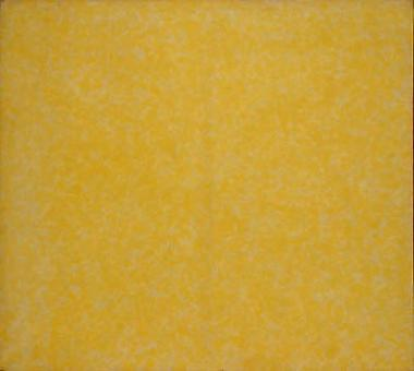 Howard Mehring - Untitled (yellow all-over) c 1962, magna on canvas, 55 x 55 inches.