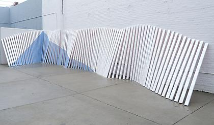 CORDY RYMAN Kamco Wave 2010, exterior grade latex house paint on wood (118 pieces), dimensions variable