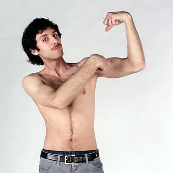 Nathaniel Fink (Maryland Institute College of Art) <i>Evan</i> (from Check Out These Guns) - 2008, C-print, 15 x 15 inches