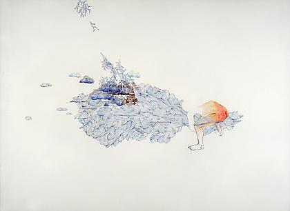 ZOË CHARLTON Wellspring 2013, collage and gouache on paper, 22 x 30 inches