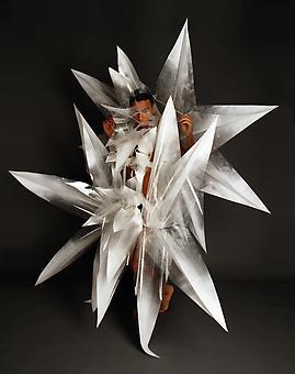 ARMANDO LOPEZ-BIRCANN Refraction 2 2012, performance in plastic performative sculpture