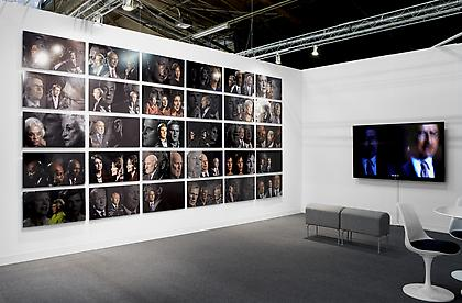 "CONNERSMITH. Booth 902, The Armory Show, 2013 Featuring ""The Network"" by Lincoln Schatz Image courtesy of Kent Pell and Artsy"