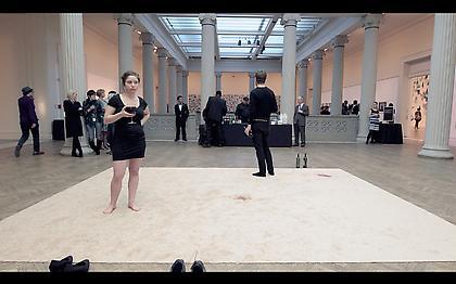 RACHEL HRBEK Easy Consumption 2013, video documentation of performance, 5 minutes 2 seconds, ed: 3