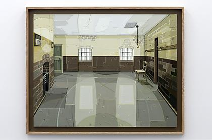JULIE ROBERTS Workhouse (Male Ward) 2012, oil on linen, 43 x 55 inches