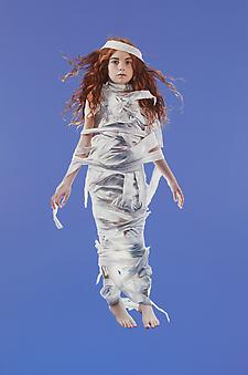 KATIE MILLER Girl Wound in a White Cloth 2013, oil on panel, 72 x 48 inches.