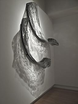 ADAM NELSON Alluvion 2012, PETG plastic, screen printed imagery, steel, light, 78 x 78 x 20