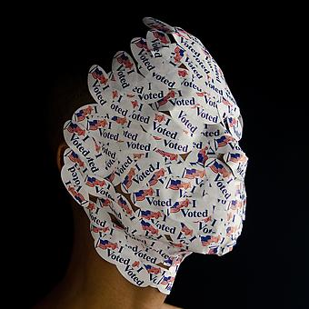 WILMER WILSON IV Model Citizen (Head) 2012, archival pigment print, 15 x 15 inches, ed. 5 + 2 AP