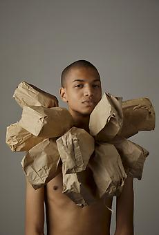 WILMER WILSON Study, From My Paper Bag Colored Heart 2012, archival pigment print, 45 x 30 inches, ed. 5