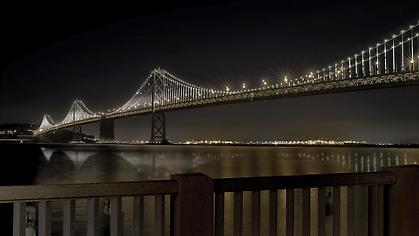 LEO VILLAREAL The Bay Lights 2013, LEDs, custom software, site specific installation: The Bay Bridge, San Francisco, CA
