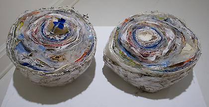 Sara Hubbs (George Washington University) <i>Ten-Pounds of Semester</i> - 2006, studio detritus, dimensions variable.