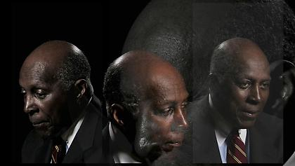 LINCOLN SCHATZ The Network (Vernon Jordan) 2012, face-mounted pigment print, 16.75 x 30 inches, ed. 5