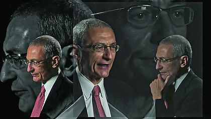 LINCOLN SCHATZ The Network (John Podesta) 2012, face-mounted pigment print, 16.75 x 30 inches, ed. 5