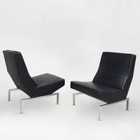 Pair of CM 236 Chairs (Black), 1960
