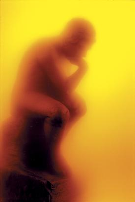 <i>Thinker</i>, 1988 Cibachrome print, silicone, acrylic, wood frame 40 by 1/2 inches (101.6 x 69.9 cm) Edition 9/10 Image