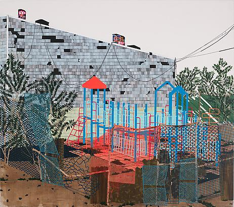 <i>Playground (Ailanthus Altissima)</i>, 2013 Acrylic on canvas over panel 64 by 72 inches (162.6 x 182.9 cm) Image