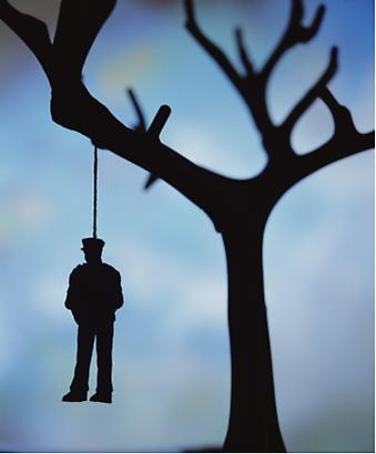 <i>Anarchy (The Hanging)</i>, 2011 Cibachrome print, silicone, acrylic, wood frame Image: 60 by 50 inches (152.4 x 127 cm) Frame: 66 by 56 inches (167.6 x 142.2 cm) Edition1/3 Image
