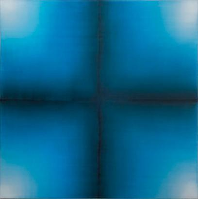 Indigo Cross, 2010 Oil on canvas 108 x 108 inches 275 x 275 cm
