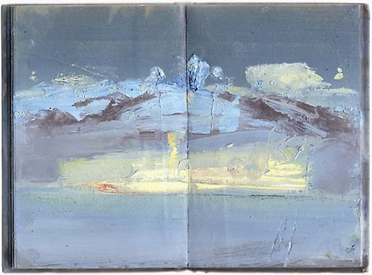 Meydad Eliyahu Untitled, 2009	   Outland series, oil on book 27 X 19 cm