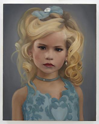 Blue Tinley, 2010 Oil on linen 10 x 8 inches (c) Jean-Philippe Humbert