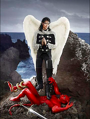 David LaChapelle Archangel Michael: And No Message Could Have Been Any Clearer, 2009 Digital C-print  101.6 x 76.2 cm