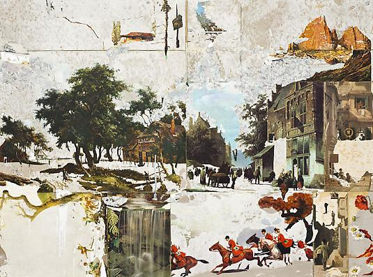 <i>The Horses</i>, 2008 Mixed media on wood 36 x 48 inches