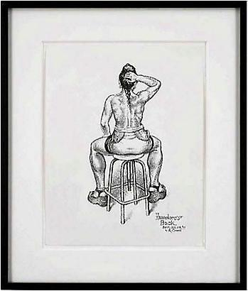 Robert Crumb <i>Hannelore's Back</i>, 1999 Ink and correction fluid on paper 14 x 11 inches 35.56 x 27.94 cm