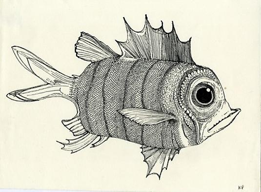 Kristofer Porter Fish, 2010 ink on paper 7.5 x 10.25 inches