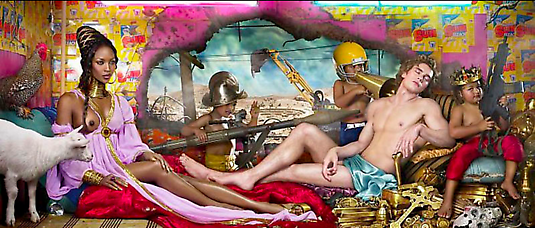 David LaChapelle Rape of Africa, 2009 Digital C-print  61 x 137.2 cm