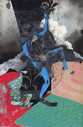 Christopher Davison All the Trappings, 2010 ink and acrylic on paper 15.5 x 10 inches
