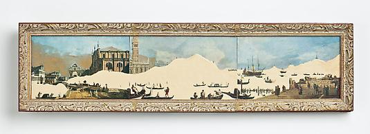 <i>The Grand Canal</i>, 2008 Mixed media on board 6 x 24 1/2 inches
