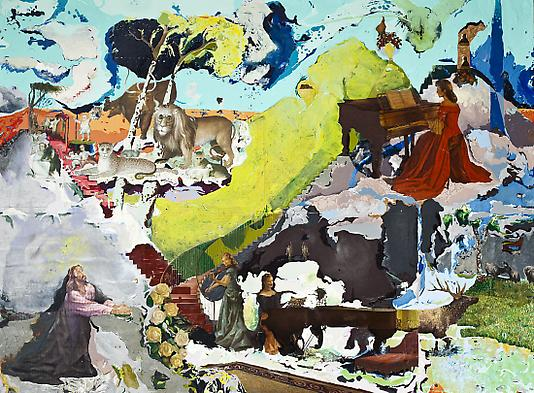 <i>Cloud Ceiling</i>, 2009 Mixed media on wood 44 x 59 inches