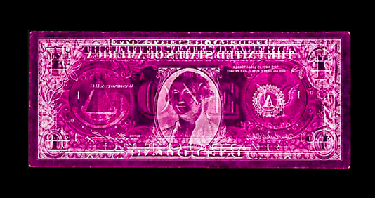 David LaChapelle Negative Currency: One Dollar Bill Used as Negative, 2007 Digital C-print  61 x 139.7 cm