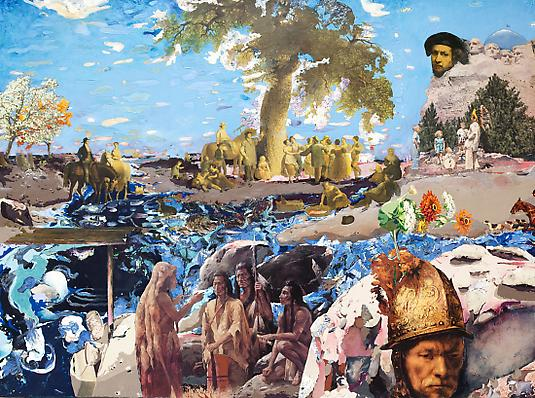 <i>Adventure Mountain</i>, 2008 Mixed media on board 36 x 48 inches