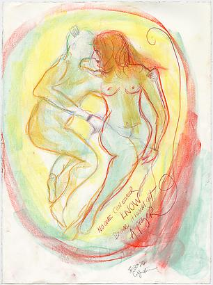 <i>Safe?</i>, 2011 Pastel, colored pencil on paper 30 x 22 1/4 inches