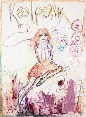 <i>Real Poltik</i>, 2012 Pastel, watercolor, acrylic, colored pencil, graphite on paper 60 x 44 inches